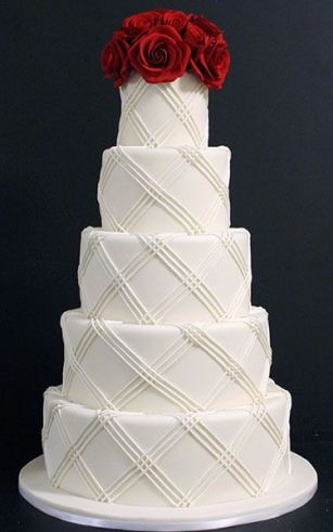 BridalGuide-Plaid Cake