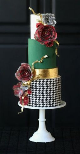 HeyThereCupcake-Plaid Cake